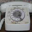 GTE Rotary Modular RJ11 Jack Telephone - White Automatic Electric - 1977 Vintage