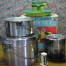 4 Party Aluminum and Plastic Cook Set - Kresge / K-Mart - 1980s Vintage