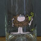 Arbys Collector Drinking Glass B.C. Comic Strip Grog 1981 Vintage Johnny Hart BC