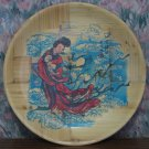 "Bamboo Small Collector Plate - Geisha Design - 6 1/4"" - 1970s / 1980s Vintage"