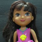 Dora the Explorer Wind Up Spinning Tail Color Changing Mermaid Doll Mattel 2014