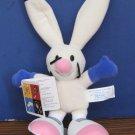 "2002 Salt Lake Winter Olympics Powder Plush Rabbit Skiing Mascot 10"" Mattel"