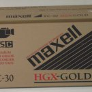 Maxell TC-30 HGX-Gold 30 Minute VHS-C Video Camcorder Cassette Tape New / Sealed