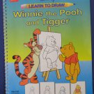 Disney Learn to Draw Winnie the Pooh and Tigger 1991 Vintage