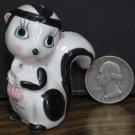 """Ceramic Skunk Girl Figurine - 2 1/4"""" - 1960s / 1970s Vintage"""