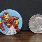 """Marvel Comics Avengers Iron Man Mini Pinback - 1.25"""" - 1989 Vintage"""