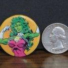 """Marvel Comics Avengers She Hulk Mini Pinback - 1.25"""" - 1989 Vintage"""