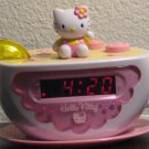 Hello Kitty Tea Cup Alarm Clock AM FM Radio Night Light KT2055 - 2004 - Teacup