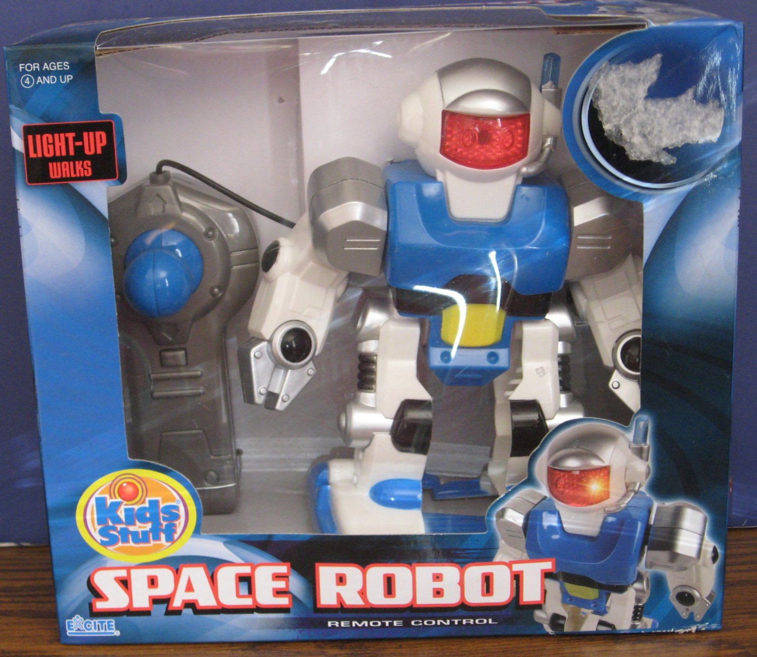 Kids Stuff Remote Control Light Up Walking Space Robot - Excite Toys