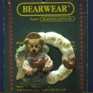 """Boyds Bears Bearwear 2"""" Pin - Love Conquers All Things - 1995 Vintage"""