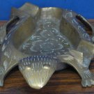 "Brass Ash Tray - Turtle Shaped - 5.25"" - HLS India 1960s / 1970s Vintage"