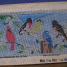 Dimensions Needlepoint or Cross Stitch Song Birds Pattern Partially Worked 1985