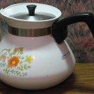 Corning Ware Wildflower Pattern Teapot P-104 6 Cup 1970s / 1980s Vintage - Tea Pot