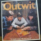 Outwit Strategy Board Game - Parker Brothers - Missing 1 Piece - 1978 Vintage