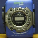 GPX C3327RS Personal Sports Portable Cassette Player AM / FM Radio - Blue