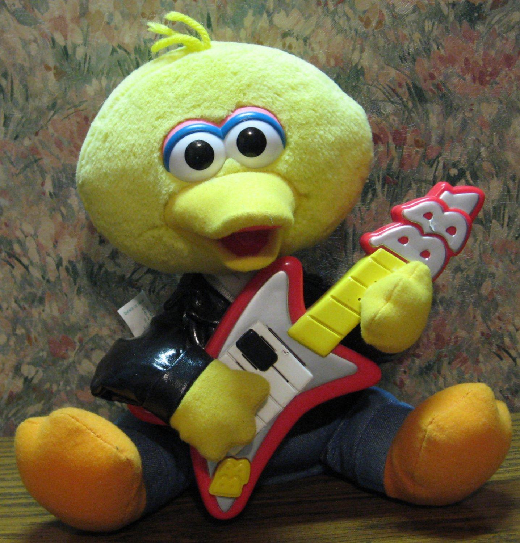 Sesame Street Rock and Roll Big Bird Singing Doll NEEDS REPAIR - 1999 Vintage