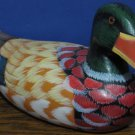 "Teleflora Gift Painted Wood Decorative Mallard Duck 10"" Decoy"