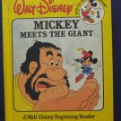 Disney Beginning Reader 01 Mickey Mouse Meets the Giant - Bantam 1986 Vintage