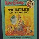 Disney Beginning Reader 02 Thumper's Little Sisters - Bantam 1986 Vintage