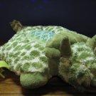 Dream Lites Pillow Pets Light Up Plush Triceratops Stars Night Light - Green