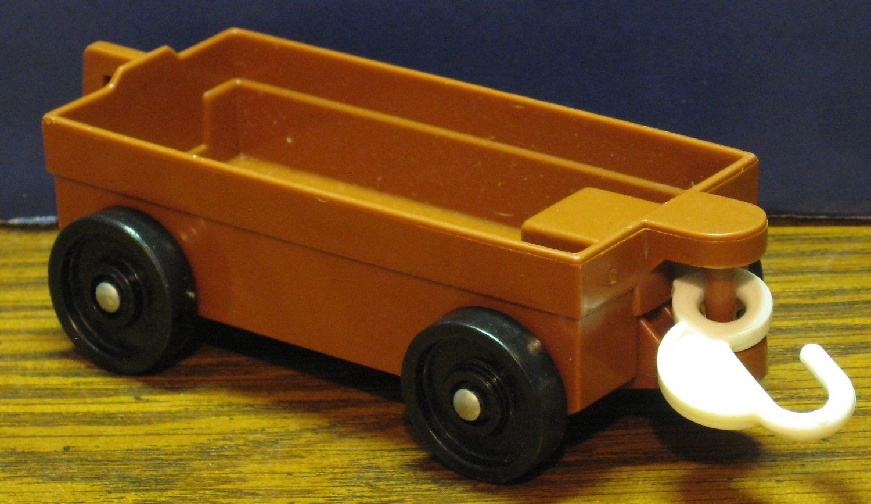 Fisher Price Little People Zoo 916 Tram Feed Car - Brown - 1985 Vintage