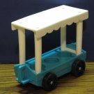 Fisher Price Little People Zoo 916 Tram Passenger Car - Blue / White - 1985 Vintage