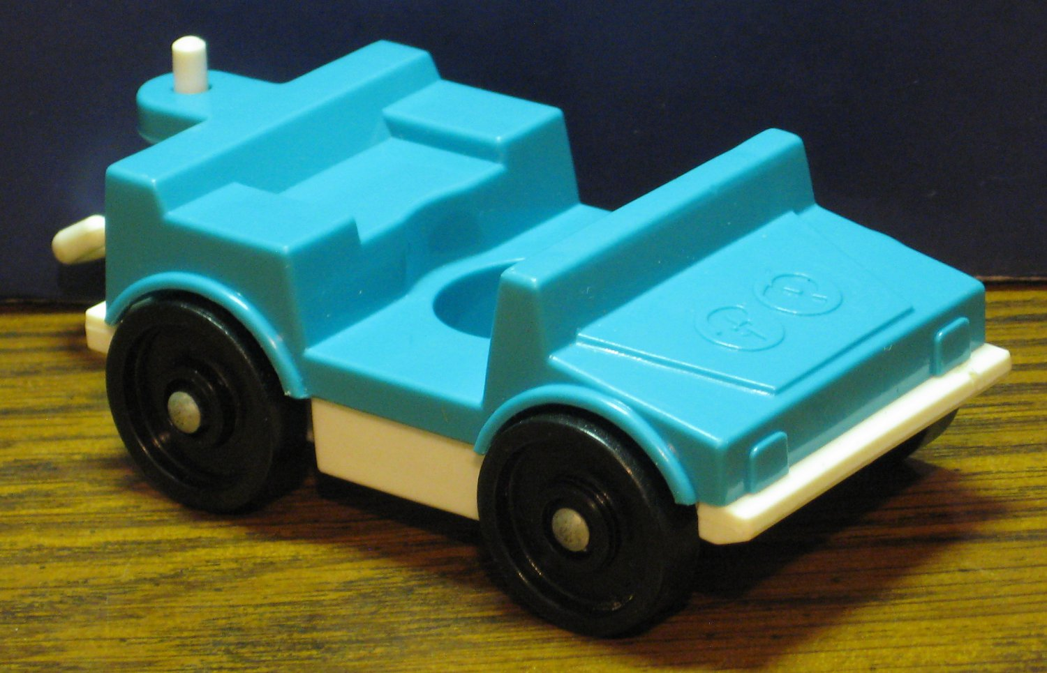 Fisher Price Little People Zoo 916 Tram Truck - Blue / White - 1985 Vintage