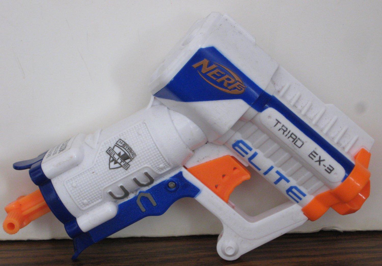 Nerf N-Strike Elite Triad EX-3 Triple Shot Soft Dart Blaster Gun 3 Round Pistol