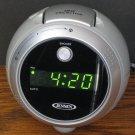 Jensen LED Projector Alarm Clock AM FM Radio JCR-222 - Gray