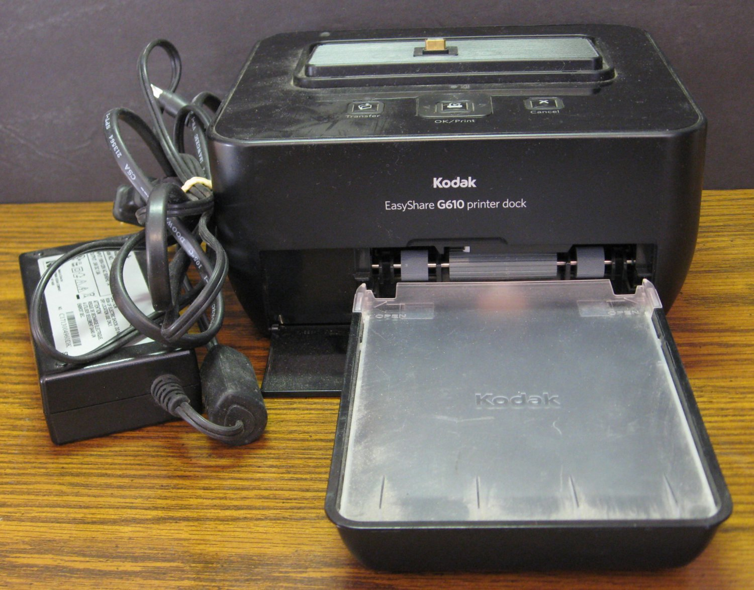 Kodak EasyShare Camera Printer Dock G610 - Black - UNTESTED - NO INK or PAPER
