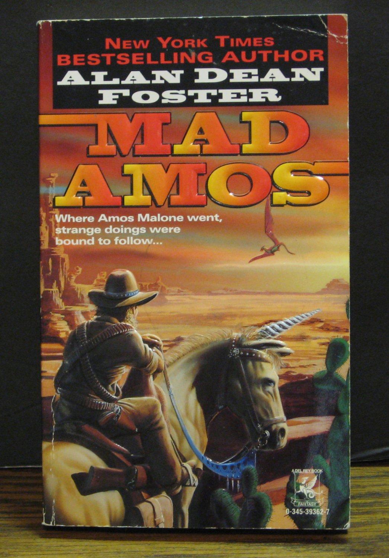 Alan Dean Foster - Mad Amos - Wild West Fantasy Adventure Novel - 1996 Vintage