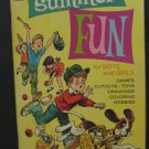 Whitman Summer Fun Activity Book - Coloring - Puzzles - Cut Outs - 1972 Vintage