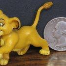 "Disney Lion King Simba Cub PVC Miniature Figure - 2"" Applause - 1994 Vintage"