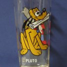 Disney Pluto and Mickey Mouse Pepsi Series Collector Glass 1978 Vintage