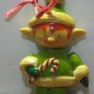 "EDR Christmas Ornament - Santa's Elf - 4"" - 1976 Vintage"