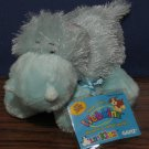 Webkinz Plush Hippo Blue - HS009 - Ganz - New With Tags and Code - Hippopotamus