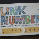 Link Numbers Educational Basic Math Tiles Game - 1963 Vintage - Milton Bradley