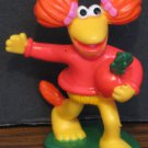 "Fraggle Rock Red with Radish PVC Figurine - 2 1/2"" - Henson Associates 1988 Vintage"