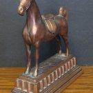 "Bronze Anatomically Correct 9"" Horse Statue / Figurine - Broken Ear - 1970s Vintage"