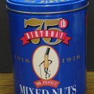 Planters Mr. Peanut 75th Birthday / Anniversary Mixed Nuts Collector Tin - 1991 Vintage