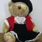 "Lady Sterling Fancy High Society Jointed 14"" British Teddy Bear - Gorham - 1986 Vintage"
