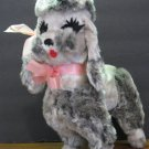 Rushton Toy Company Plush Gray Poodle - Star Creations - 1980s / 1970s Vintage