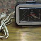 Timex 7421-4 Lighted Dial Electric Analog Alarm Clock - 1980s Vintage