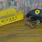 Fishing Lure - Neon Mickey Black Clear Lights Up 1955 Vintage - Very Rare