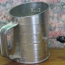 Bromwell Aluminum 3 Cup Flour Measuring Sifter - 1960s / 1970s Vintage