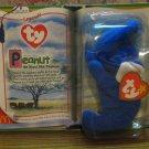 Ty Teenie Beanie Babies Legends Peanut the Royal Blue Elephant - McDonalds - Sealed - Very Rare