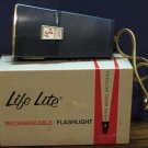 Life Lite Rechargeable Super 200 Flashlight - Gulton - DEAD / For Display - 1950s Vintage