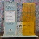 Gestetner 41 Border Plate - With Storage Envelope - 1950s / 1960s Vintage