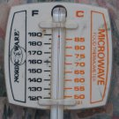 "Nordic Ware Microwave Food Thermometer - Farenheit / Celsius - 5 1/2"" - 1980s Vintage"