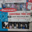 Renown Christmas Tree Lite 15 Light String - Parallel Wired - Damaged Box - 1980s Vintage